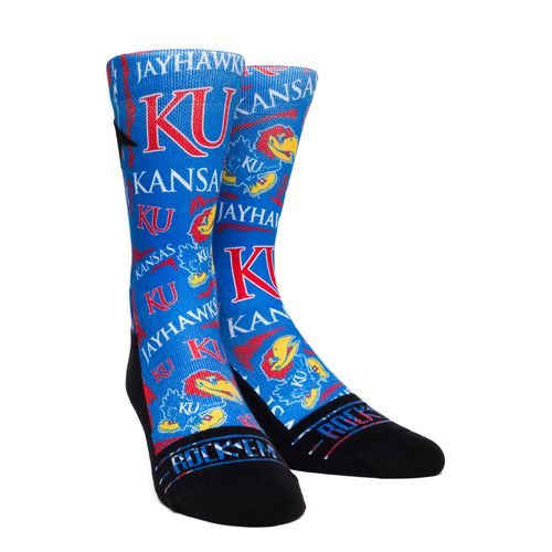 Rock 'Em Apparel Men's University of Kansas Sketch Socks