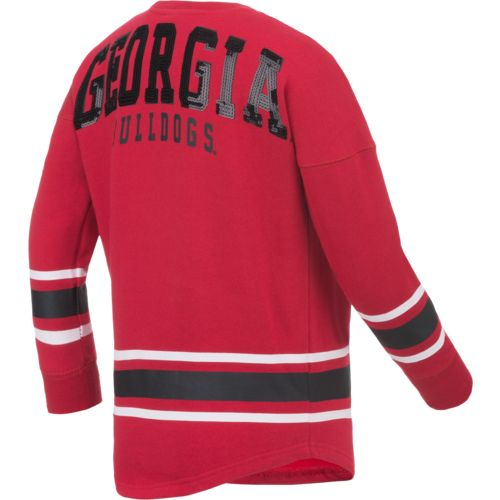 Colosseum Athletics™ Girls' University of Georgia Boyfriend Varsity Pullover - view number 1