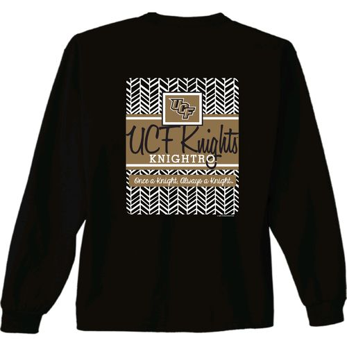 New World Graphics Women's University of Central Florida Herringbone Long Sleeve T-shirt