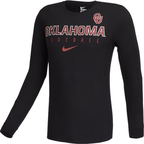 Nike™ Men's University of Oklahoma Practice Long Sleeve T-shirt