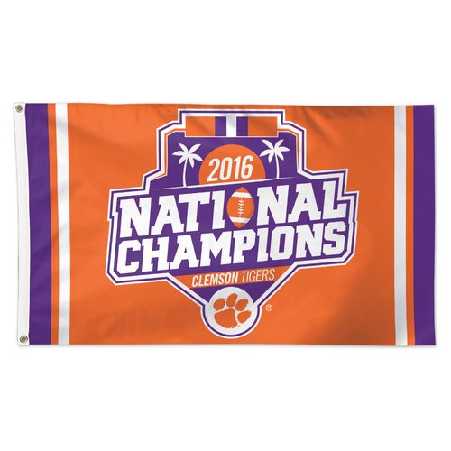 WinCraft Clemson University 2016 National Champions Deluxe Flag