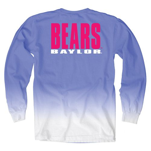 Blue 84 Women's Baylor University Ombré Long Sleeve Shirt