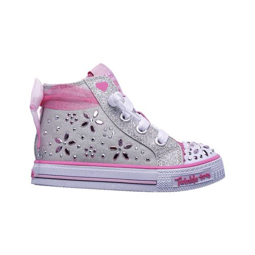 SKECHERS Toddler Girls' Twinkle Toes Shuffles Fancy Faves Casual Shoes