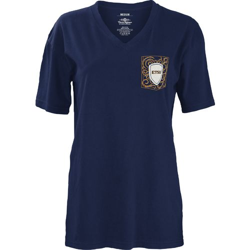 Three Squared Juniors' East Tennessee State University Anchor Flourish V-neck T-shirt - view number 2