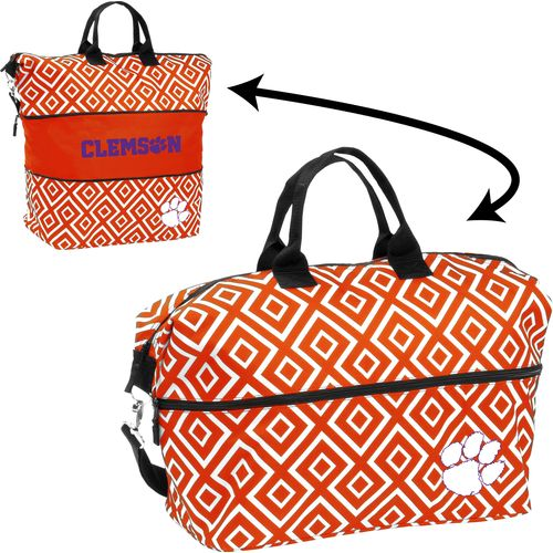Logo™ Women's Clemson University Double Diamond Expandable Tote Bag