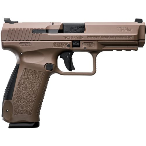 Canik TP9SF Desert 9mm Luger Pistol with Warren Tactical Sights