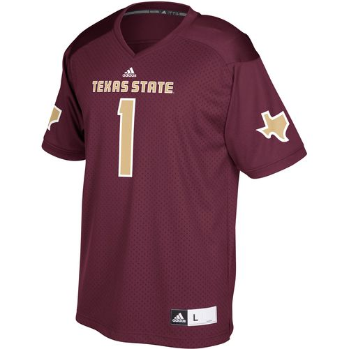 adidas Men's Texas State University Replica Football Jersey