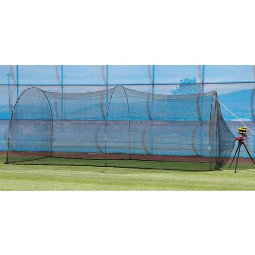 Heater Sports Slider Lite-Ball Pitching Machine and PowerAlley Batting Cage