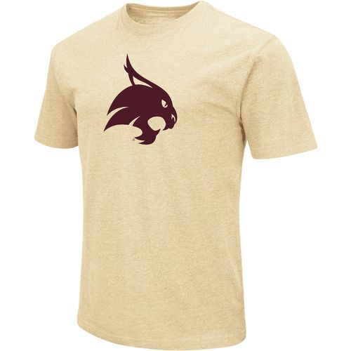 Colosseum Athletics Men's Texas State University Logo Short Sleeve T-shirt
