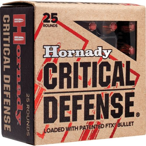 Display product reviews for Hornady FTX® Critical Defense® .380 Automatic 90-Grain Handgun Ammunition