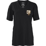 Three Squared Juniors' Wichita State University Team For Life Short Sleeve V-neck T-shirt - view number 2