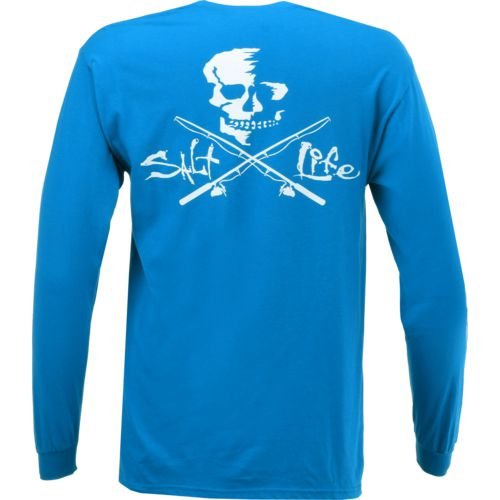 Salt Life Men's Skulls and Poles Long Sleeve Pocket T-shirt