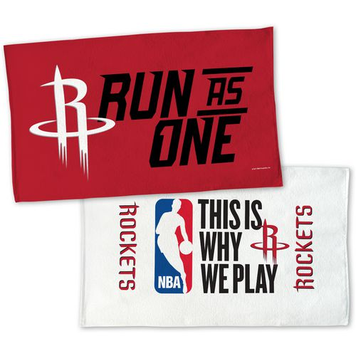 WinCraft Houston Rockets 22 in x 42 in On-Court 2-Sided Locker Room Towel