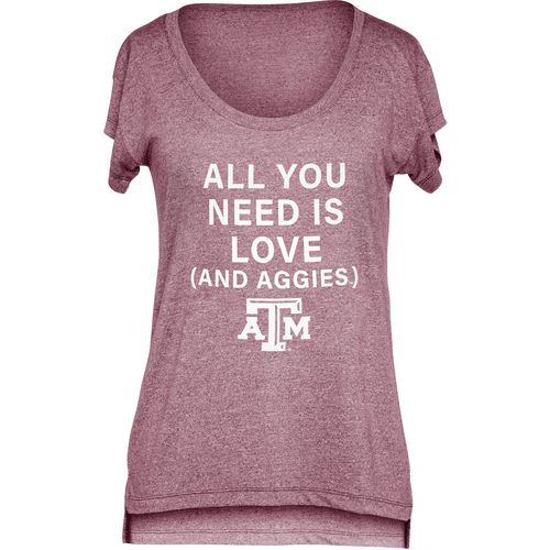 Chicka-d Women's Texas A&M University Scoop-Neck T-shirt