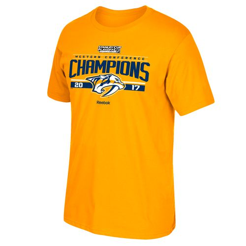 Reebok Men's Nashville Predators 2017 NHL Western Conference Champs Locker Room T-shirt