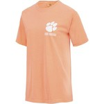 New World Graphics Women's Clemson University Comfort Color Puff Arch T-shirt - view number 3