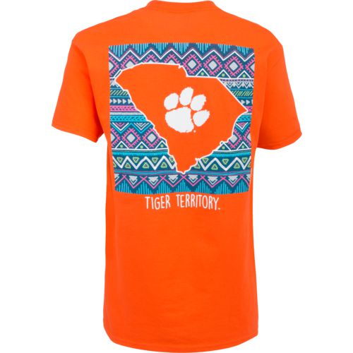 New World Graphics Women's Clemson University Terrain State T-shirt