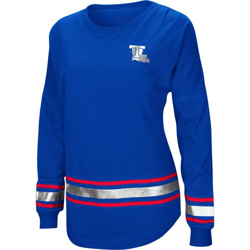 Colosseum Athletics Women's Louisiana Tech University Humperdinck Oversize Long Sleeve T-shirt