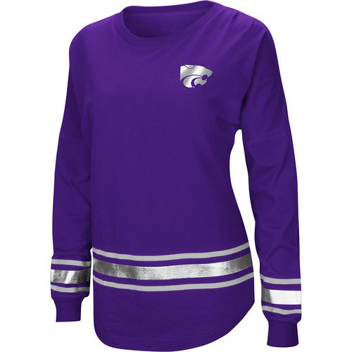 Colosseum Athletics Women's Kansas State University Humperdinck Oversize Long Sleeve T-shirt