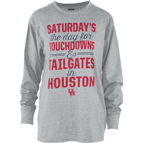 Three Squared Juniors' University of Houston Touchdowns and Tailgates T-shirt