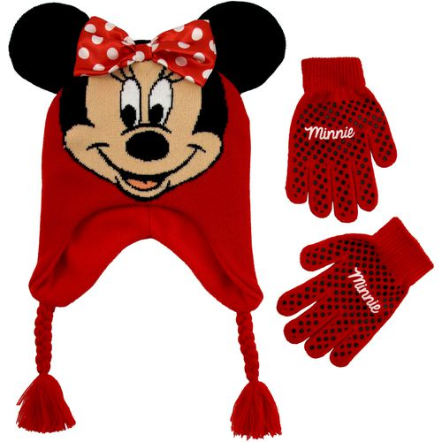 ABG Accessories Girls' Minnie Mouse Scandi Hat and Glove Set