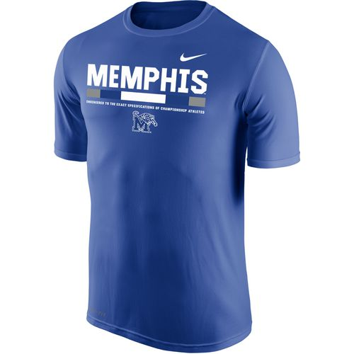 Nike Men's University of Memphis Dri-FIT Legend 2.0 Short Sleeve T-shirt