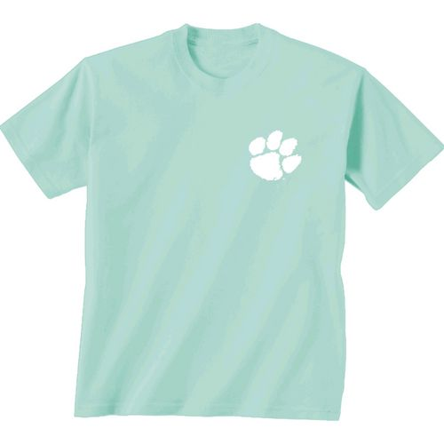 New World Graphics Women's Clemson University Comfort Color Circle Flowers T-shirt - view number 2