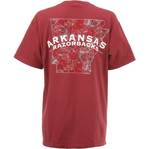 New World Graphics Women's University of Arkansas Comfort Color Puff Arch T-shirt