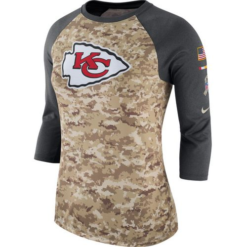 Nike Women's Kansas City Chiefs Salute to Service '17 Legend Raglan T-shirt