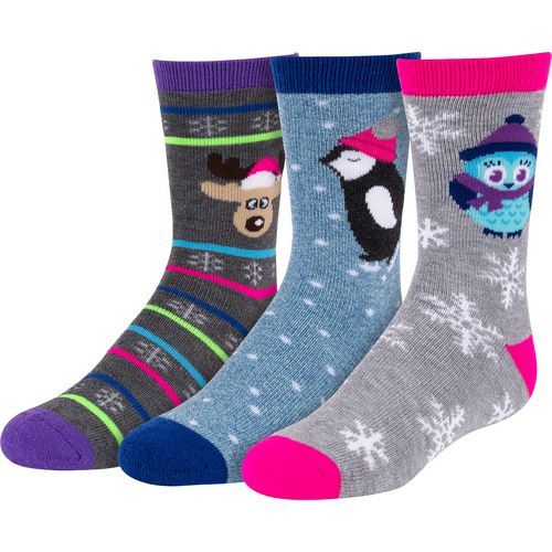 BCG Girls' Winter-Themed Crew Socks
