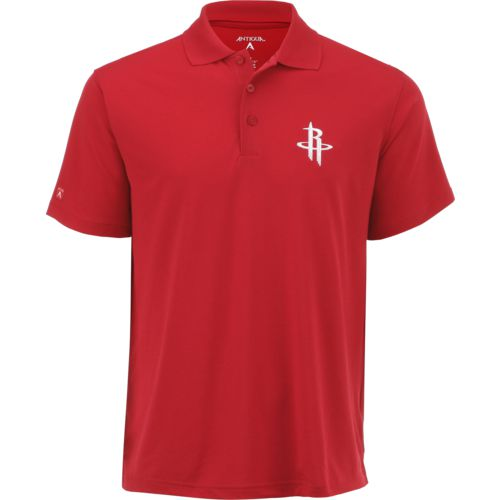 Antigua Men's Houston Rockets Pique Xtra-Lite Polo Shirt