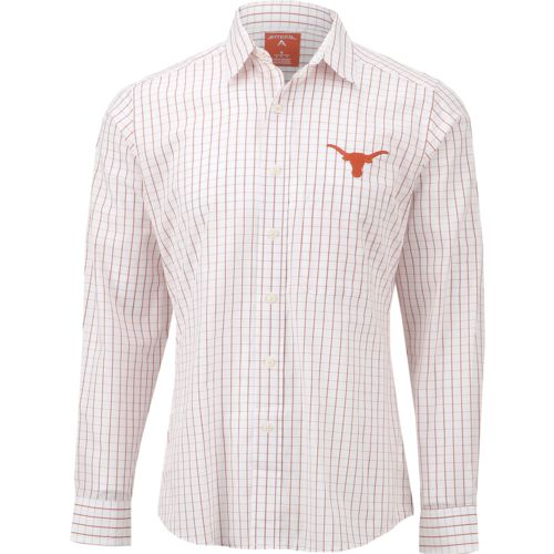 Antigua Men's University of Texas Affiliate Long Sleeve Dress Shirt