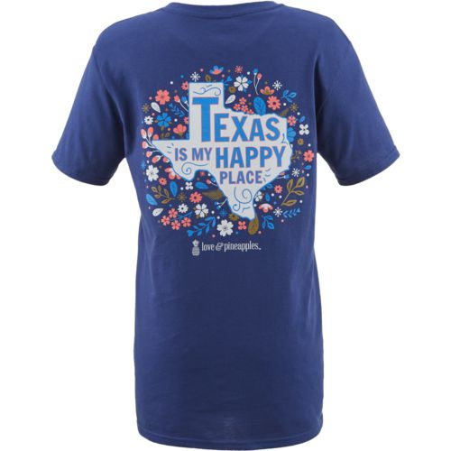 Love & Pineapples Women's Texas Is My Happy Place T-shirt