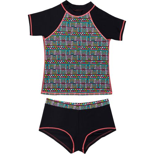 O'Rageous Girls' Geo Pop 2-Piece Rash Guard Set
