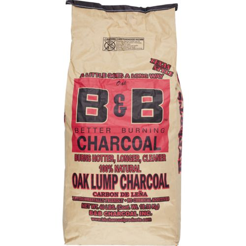 B&B 40 lb Oak Lump Charcoal