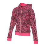 BCG™ Girls' Printed Fleece Zip Front Hoodie