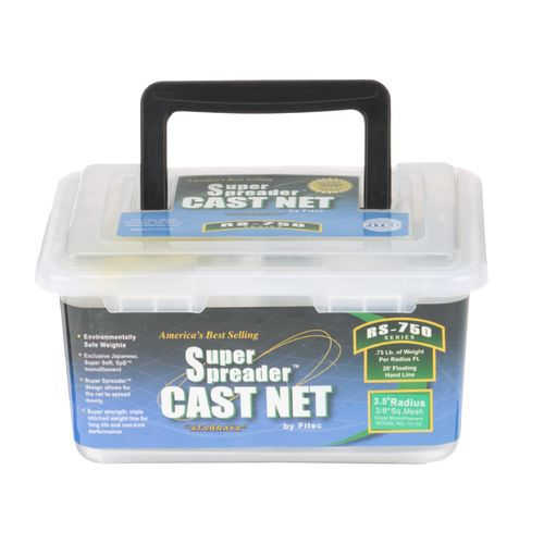 Display product reviews for Fitec RS750 Series Super Spreader 3-1/2' Cast Net