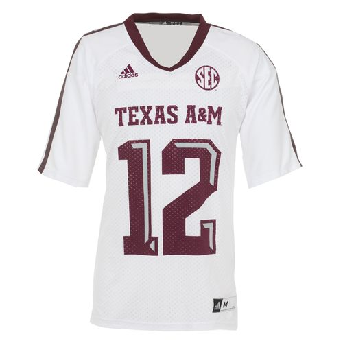 Image for adidas Men's Texas A&M University Replica Football Jersey from Academy