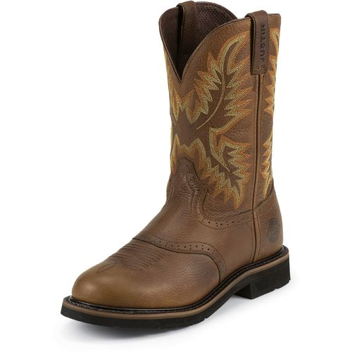 Display product reviews for Justin Men's Sunset Cowhide Western Work Boots