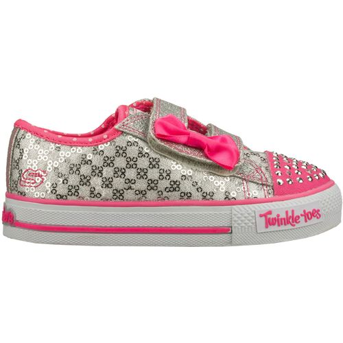 SKECHERS Toddler Girls  Twinkle Toes Shuffles Sweet Steps Light-Up Shoes