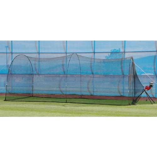 Trend Sports BaseHit Pitching Machine with PowerAlley Home Batting Cage