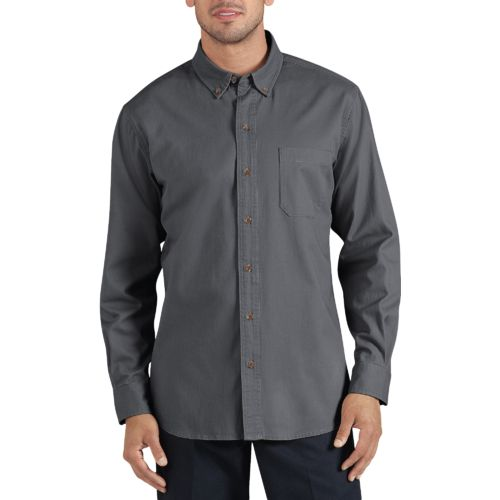 Dickies Men's Long Sleeve Button Down Twill Shirt