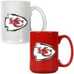 Great American Products Kansas City Chiefs 15 oz. Ceramic Mug Set