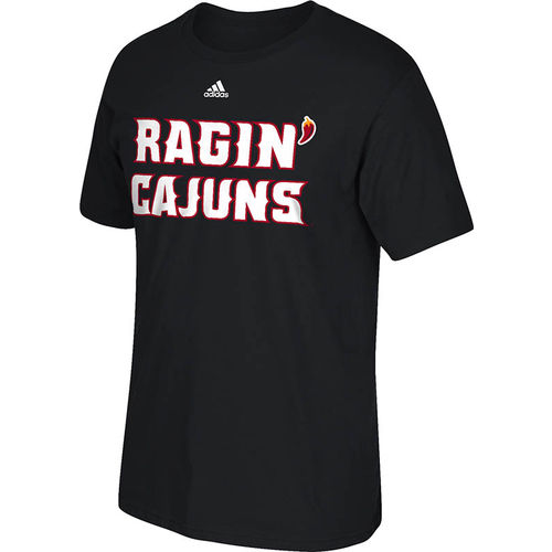 adidas Men's University of Louisiana at Lafayette Team Font T-shirt