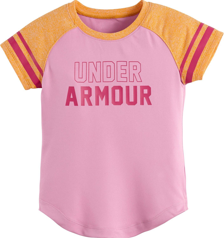 Image For Under Armour Girls 39 Baseball Raglan Short