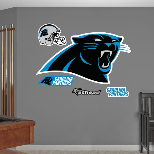 Fathead Carolina Panthers Logo and Team Decals 5-Pack