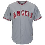 Majestic Men's Los Angeles Angels Mike Trout #27 Cool Base® Replica Jersey - view number 2