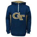 NCAA Kids' Georgia Tech 1/4 Zip Fleece Hoodie