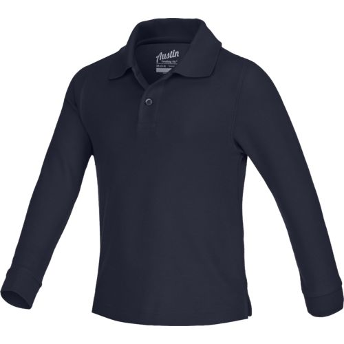 Austin Trading Co. Boys' Uniform Long Sleeve Pique Polo Shirt - view number 1