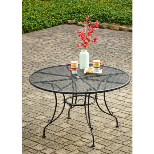 Mosaic Steel Mesh Round Dining Table - view number 4